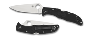 "Spyderco Endura 4 C10FPBK Folding Knife, 3.812"" Flat Ground Plain Edge Blade, Black FRN Handle"