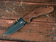 "Rick Hinderer Knives XM-18 SLIPPY Vintage Spearpoint Folding Knife, Black  3"" Plain Edge O-1 Blade, Smooth Walnut Handle"