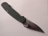 "USED - Spyderco Paramilitary 2 Sprint Run C81GPFGR2 Folding Knife, Satin 3.437"" Plain Edge CPM-S45VN Blade, Diamond Arc™ Forest Green G-10 Handle"