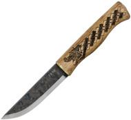 Condor Tool & Knife Norse Dragon Knife CTK1021-3.8HC, 1095 High Carbon Plain Edge Blade, Wood Handle, Sheath
