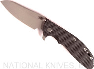 Rick Hinderer Knives XM-24 Sheepsfoot Flipper Knife, Working Finish CPM-20CV  Plain Edge Blade, Working Finish Lockside, Black G-10 Handle - Tri-Way Pivot