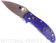 "Spyderco Manix 2 C101PBL2 Folding Knife, 3.375"" Plain Edge Blade, Blue FRCP Handle"