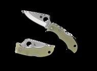 Spyderco Ladybug 3 LPGITD3 Folding Knife, VG-10 Plain Edge Blade, Glow In The Dark FRN Handle