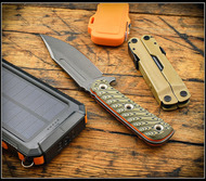 "RMJ Tactical UCAP Fixed Blade Knife Tungsten 4.25"" Nitro-V Blade Blaze Olive G10"