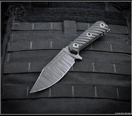 "RMJ Tactical UCAP Fixed Blade Knife Black Textured 4.25"" Nitro-V Blade Black G10"