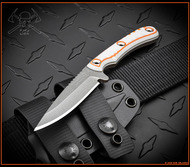 """RMJ Tactical Sparrow Explore More Knife 3.5"""" Savage Stainless Cerakote Blade G10"""