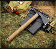 American Tomahawk Company Model 1 Tomahawk - Black Head - Coyote Brown Nylon Hnd