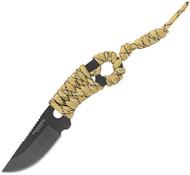 Condor Tool & Knife Carlitos Neck Knife CTK808-25HC PlainEdge 1075 Blade -Sheath