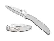 "Spyderco Endura 4 C10P Folding Pocket Knife, 3.781"" Plain Edge Blade, Stainless Steel Handle"