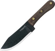 Condor Tool & Knife Mini Hudson Knife CTK2816-4.9HC, 1075 Plain Edge Blade, Walnut Handle, Sheath