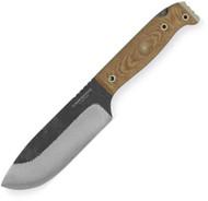 Condor Tool & Knife Selknam Knife CTK3921-5.1HC, 1075 Plain Edge Blade, Micarta Handle, Sheath
