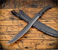 RMJ Tactical 3V Syndicate Wyvern Short Sword Textured Black CPM-3V Steel G-10