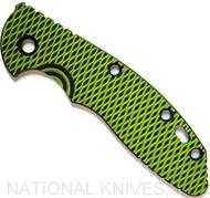 """Rick Hinderer Knives G-10 Handle Scale for XM-18 - 3.5"""" - Neon Green-Black"""
