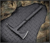 RMJ Tactical Kestrel Tomahawk Blackout 80CRV2 Steel Black G-10 Handle - Sheath