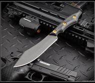 RMJ Tactical Ratatosk Fixed Blade Knife Nitro-V Blade Carbon Fiber - Sheath