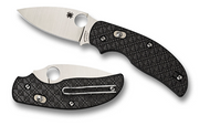 "Spyderco Sage 3 C123CFBAP Folding Knife, 3"" Plain Edge Blade, Black Carbon Fiber and G-10 Laminated Handle"