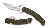 "Spyderco Szabo C146CFP Folding Knife 4.6"" Plain Edge Blade, Lightning Strike Carbon Fiber and G-10 Laminate Handle"