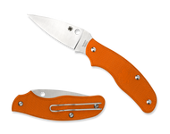 "Spyderco Spy-DK C179POR Slipit Folding Knife, 2.687"" Plain Edge Blade, Orange FRN Handle"