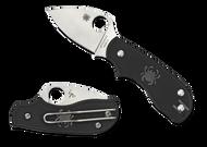 Spyderco Squeak Folding Knife C154PBK Plain Edge N690Co Blade Black FRN Handle