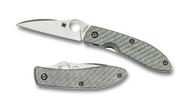 "Spyderco Bradley Air C159GFP Folding Knife, 2.562"" Plain Edge Blade, Gray Glass Fiber Handle"