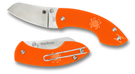 "Spyderco Pingo C163POR Slipit Folding Knife, 2.35"" Plain Edge Blade, Orange FRN Handle"
