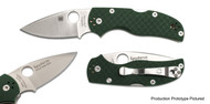 "Spyderco Native 5 C41GPGR5 Blade Forums Folding Knife, 3"" Plain Edge CPM-S110V Blade, Green G-10 Handle"