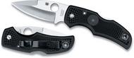 "Spyderco Native C41PBK Folding Knife, Satin 3-1/8"" Plain Edge Blade, Black FRN Handle"