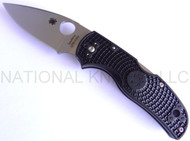 "Spyderco Native 5 C41PBK5 Folding Knife, 3"" Plain Edge S30V Blade, Black FRN Handle"