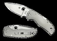 "Spyderco Native 5 C41TIFP5 Folding Knife, 3"" Plain Edge Blade, Fluted Titanium Handle"