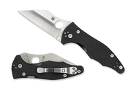 "Spyderco Yojimbo 2 C85GP2 Folding Knife, 3.25"" Plain Edge Blade, Black G-10 Handle"