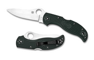 "Spyderco Stretch C90PGRE Folding Knife, 3.5"" Plain Edge ZDP-189 Blade, British Racing Green FRN Handle"