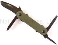 "Emerson Multitasker EDC-2 Multitool, Black 2.6"" Plain Edge Blade, Green G-10 Handle"
