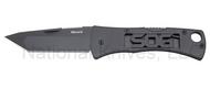 "SOG Micron 2.0 FF91-CP Folding Knife, Black 2.25"" Plain Edge Blade"