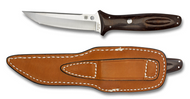 "Spyderco Lum Tanto FB03BRGP Sprint Run Fixed Blade Knife, 4-1/4"" Plain Edge Blade, Sheath"