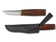 "Spyderco Puukko FB28WDP Fixed Blade Knife, 3.3125"" Plain Edge Blade, Arizona Ironwood Handle, Sheath"