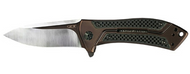"Zero Tolerance ZT 0801CF Limited Edition Folding Knife, 3.5"" Plain Edge Blade, Bronze Titanium and Black Carbon Fiber Handle"