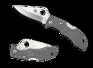 "Spyderco Ladybug 3 LFGP3 Folding Knife, 1.937"" Plain Edge Blade, Foliage Green FRN Handle"