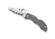 "Spyderco Ladybug 3 LFGS3 Folding Knife, 1.937"" Serrated Edge Blade, Foliage Green FRN Handle"