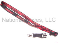 Kershaw Neck Lanyard, Red & Black, Detachable Clip