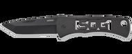 "SOG Micron-CP Folding Pocket Knife, Black 1.5"" Plain Edge Blade"