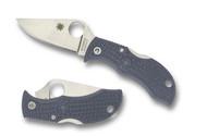 "Spyderco Manbug MGYPE Sprint Run Folding Knife, 1.94"" Plain Edge Super Blue and 420J1 Laminate Blade, Gray FRN Handle"