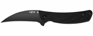 "Zero Tolerance 0750 Folding Knife, Black 3-1/8"" Plain Edge Blade, Black G-10 Handle"