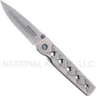 "Mcusta Yoroi MC-37C Folding Knife, 2.75"" Plain Edge Blade, Damascus Handle"