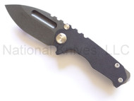 "Medford Knives Micro Praetorian Folding Knife, Oxide 2.875"" Plain Edge D2 Blade, Titanium and Black G-10 Handle"