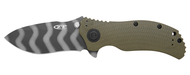 "Zero Tolerance 0301 Assisted Opening Knife, Tiger Striped 3.75"" Plain Edge Blade"