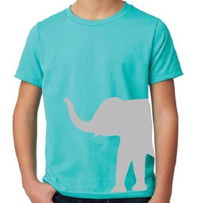 Blue Elephant Shirt Kids