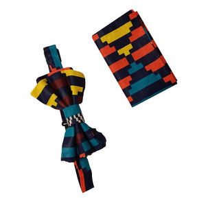 Mukisa Bow Tie and Pocket Square Set