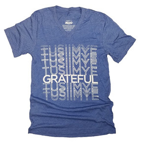 Tusiimye Blue V-Neck Shirt