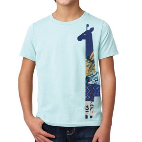Ice Blue Kids Giraffe Shirt