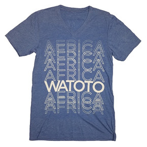 Africa Blue V-Neck Shirt